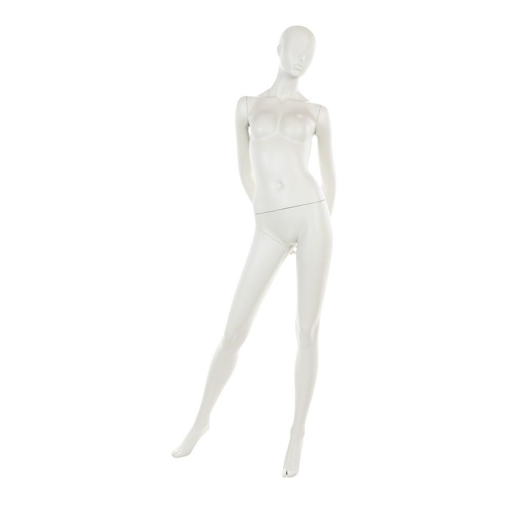 Mannequin femme tête abstraite blanc gris mod.b (photo)