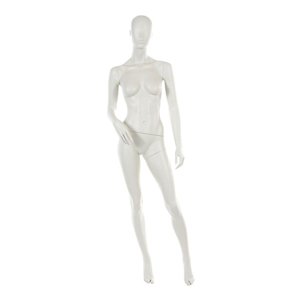 Mannequin femme tête abstraite blanc gris mod.c (photo)