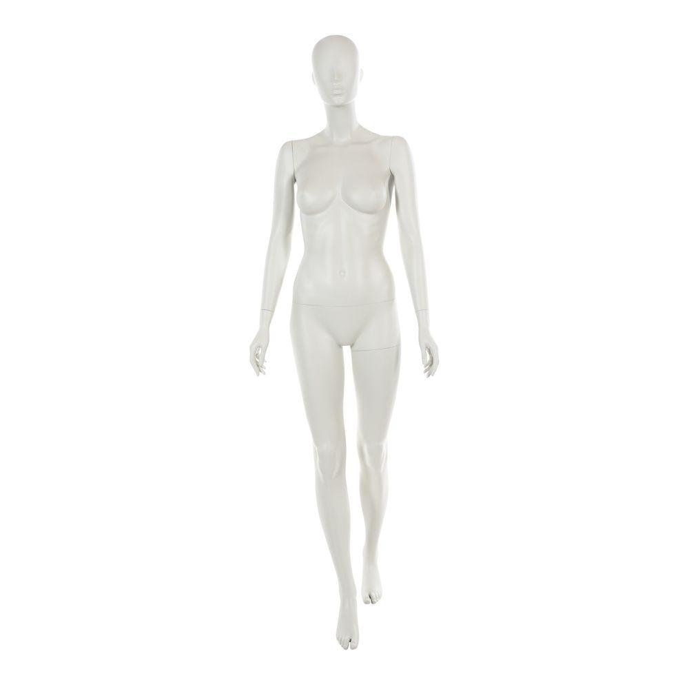 Mannequin femme tête abstraite blanc gris mod.d (photo)