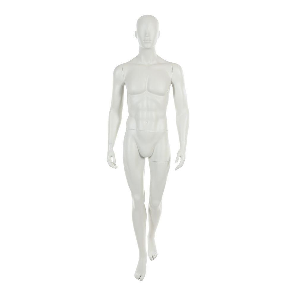 Mannequin homme tête abstraite blanc gris mod.a (photo)