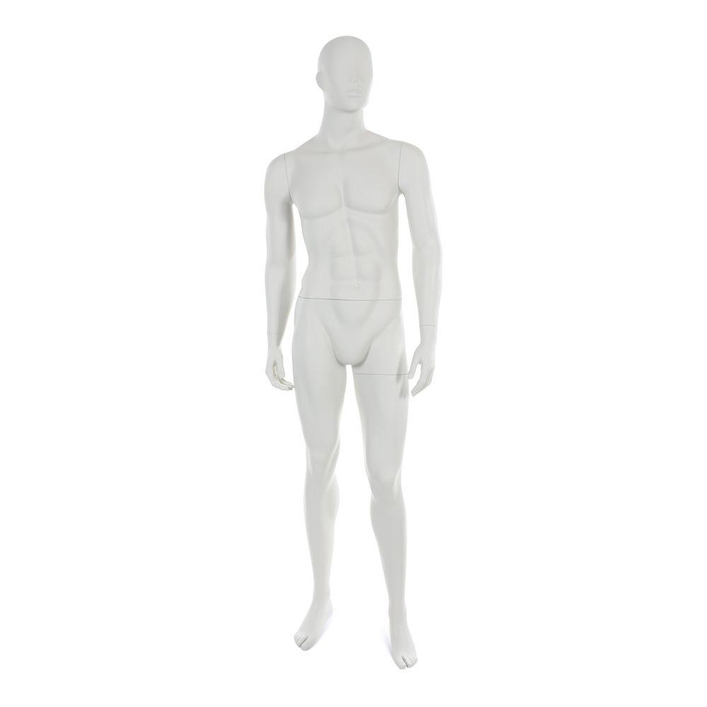 Mannequin homme tête abstraite blanc gris mod.b (photo)
