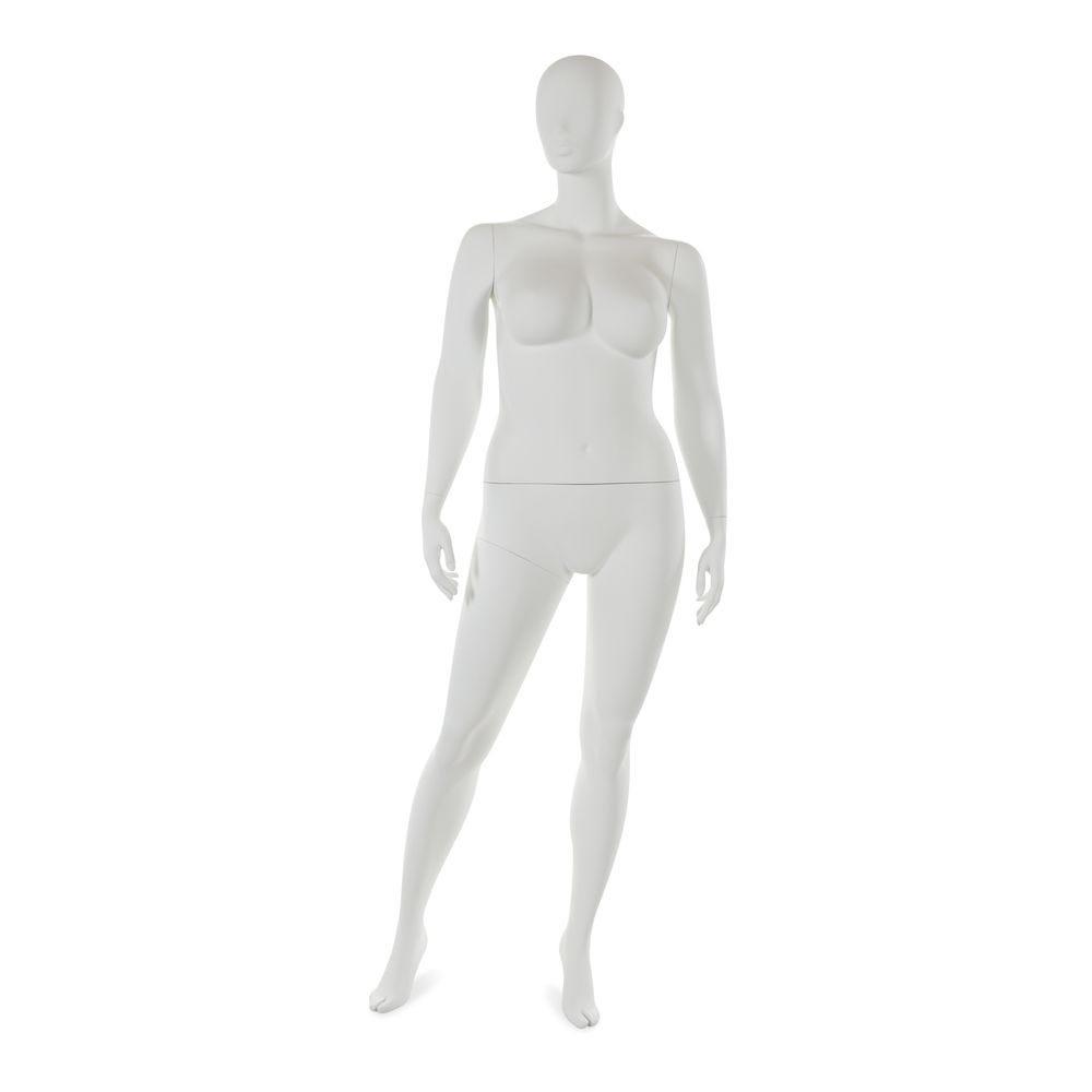 Mannequin femme taille plus tête abstraite blanc mod.c (photo)