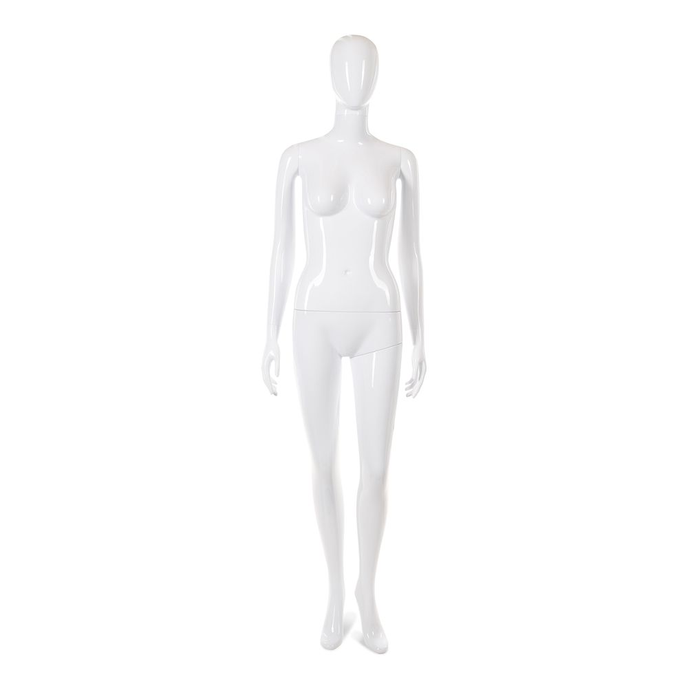 Mannequin femme tête abstraite cosmo blanc laqué mod.b (photo)
