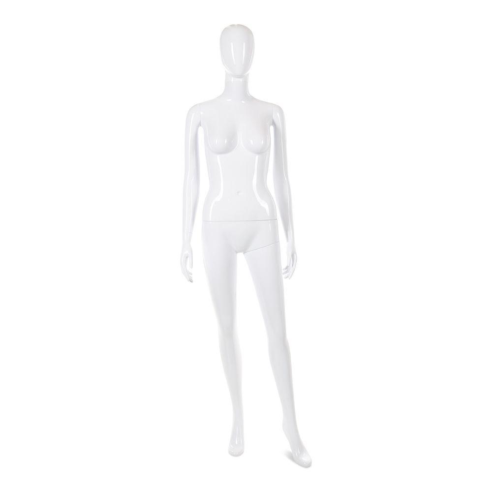 Mannequin femme tête abstraite cosmo blanc laqué mod.c (photo)