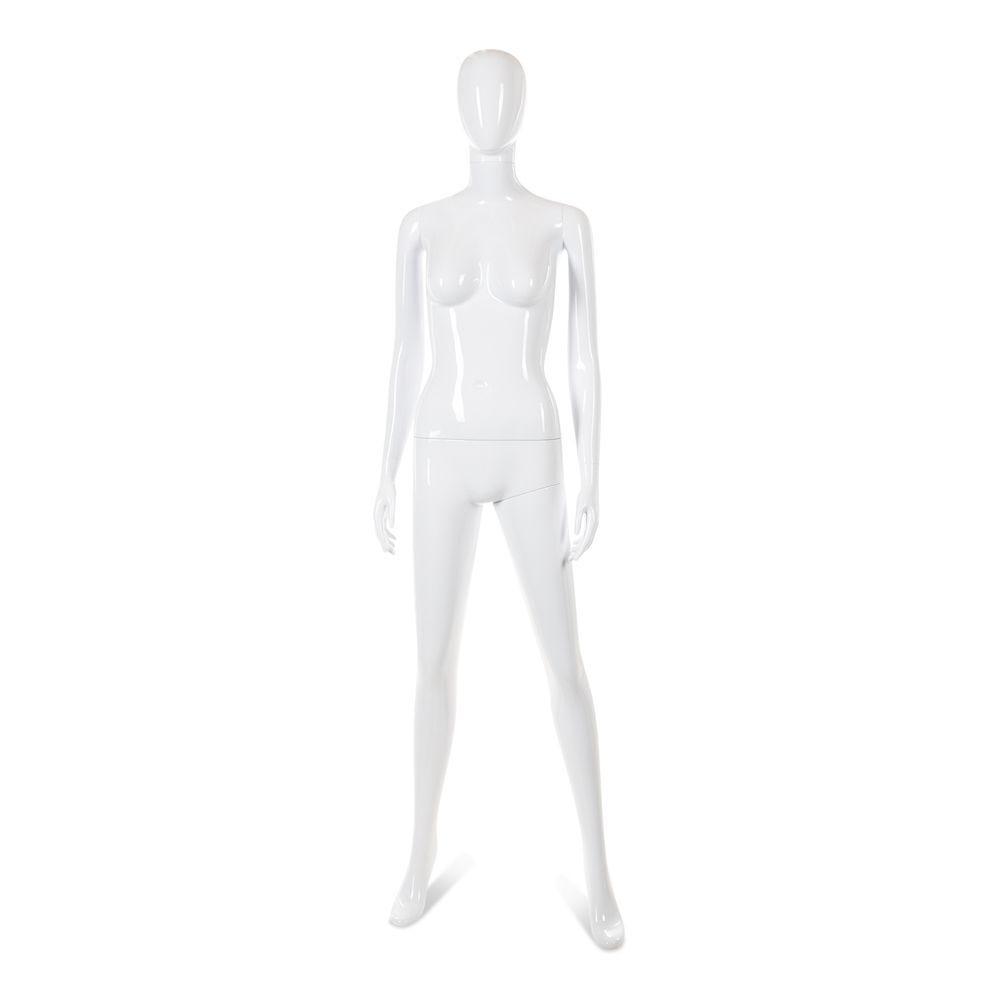 Mannequin femme tête abstraite cosmo blanc laqué mod.d (photo)