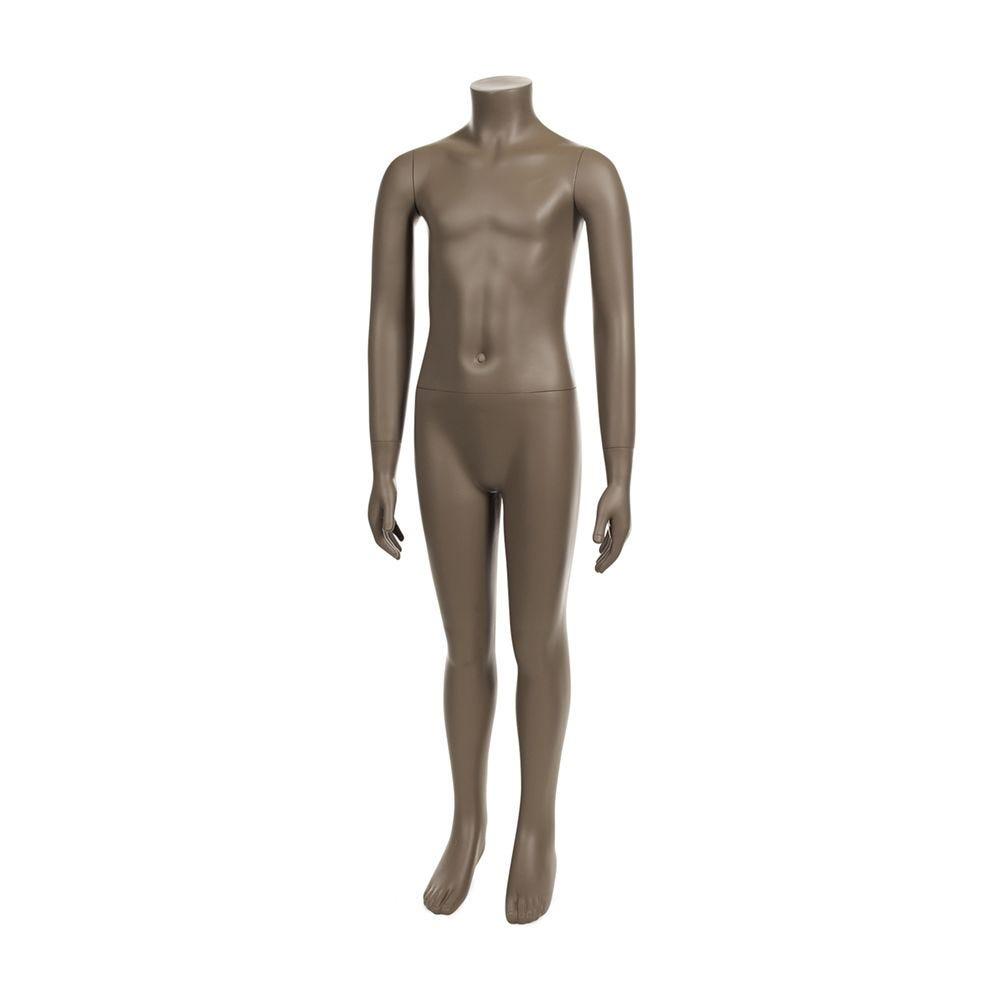 Mannequin enfant sans tête 8 ans frp couleur beige gris avec socle (photo)