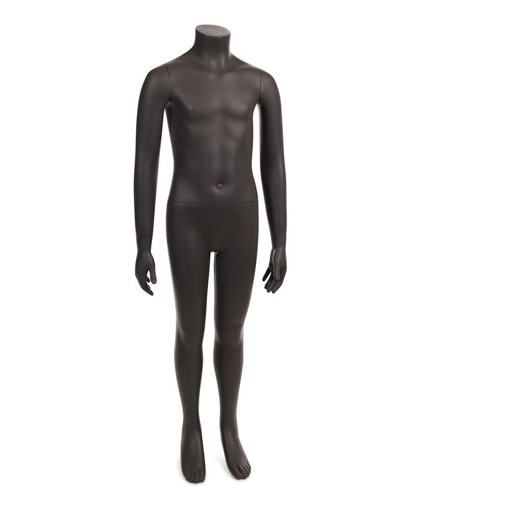 Mannequin enfant sans tête 8 ans frp couleur gris ombre avec socle (photo)