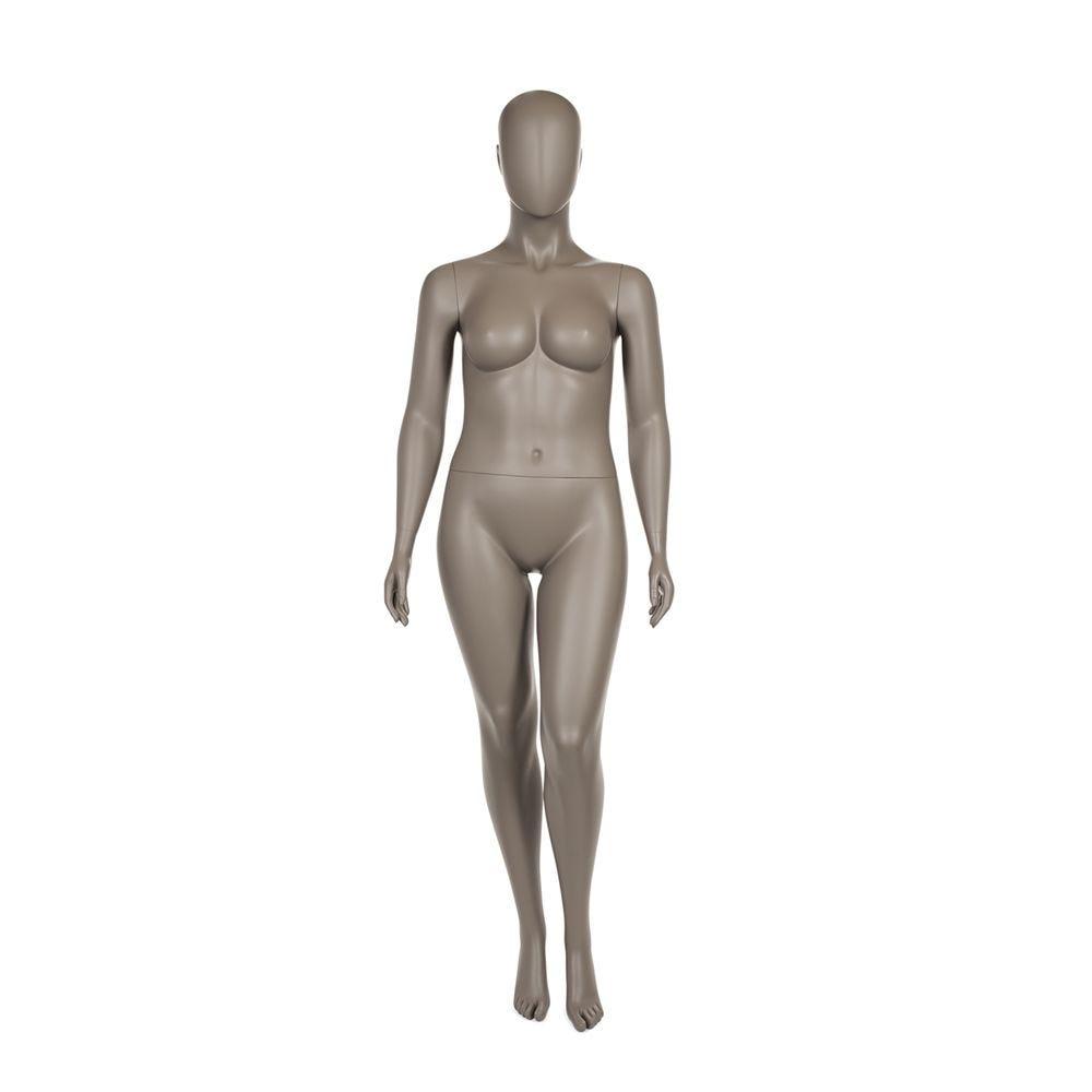 Mannequin dame ronde qualité supérieure collection strong couleur taupe clair (photo)