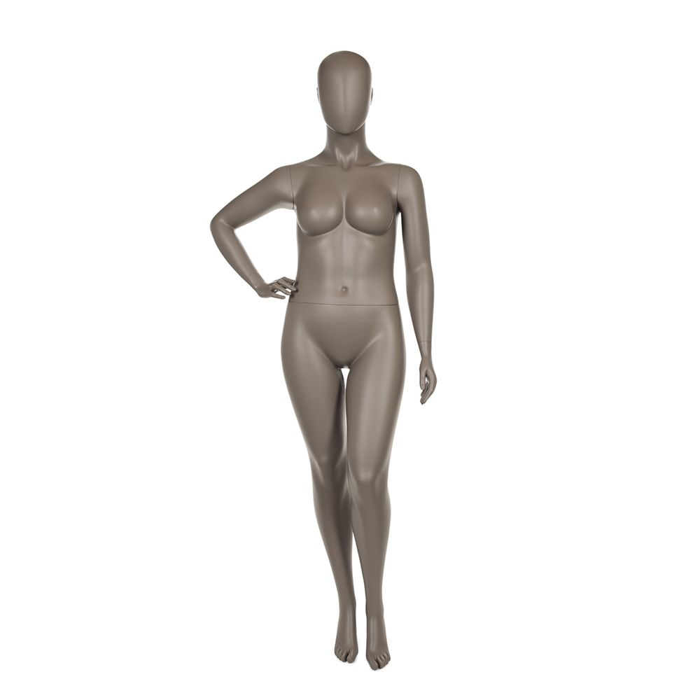 Mannequin dame ronde qualité supérieure collection strong coloris taupe clair (photo)