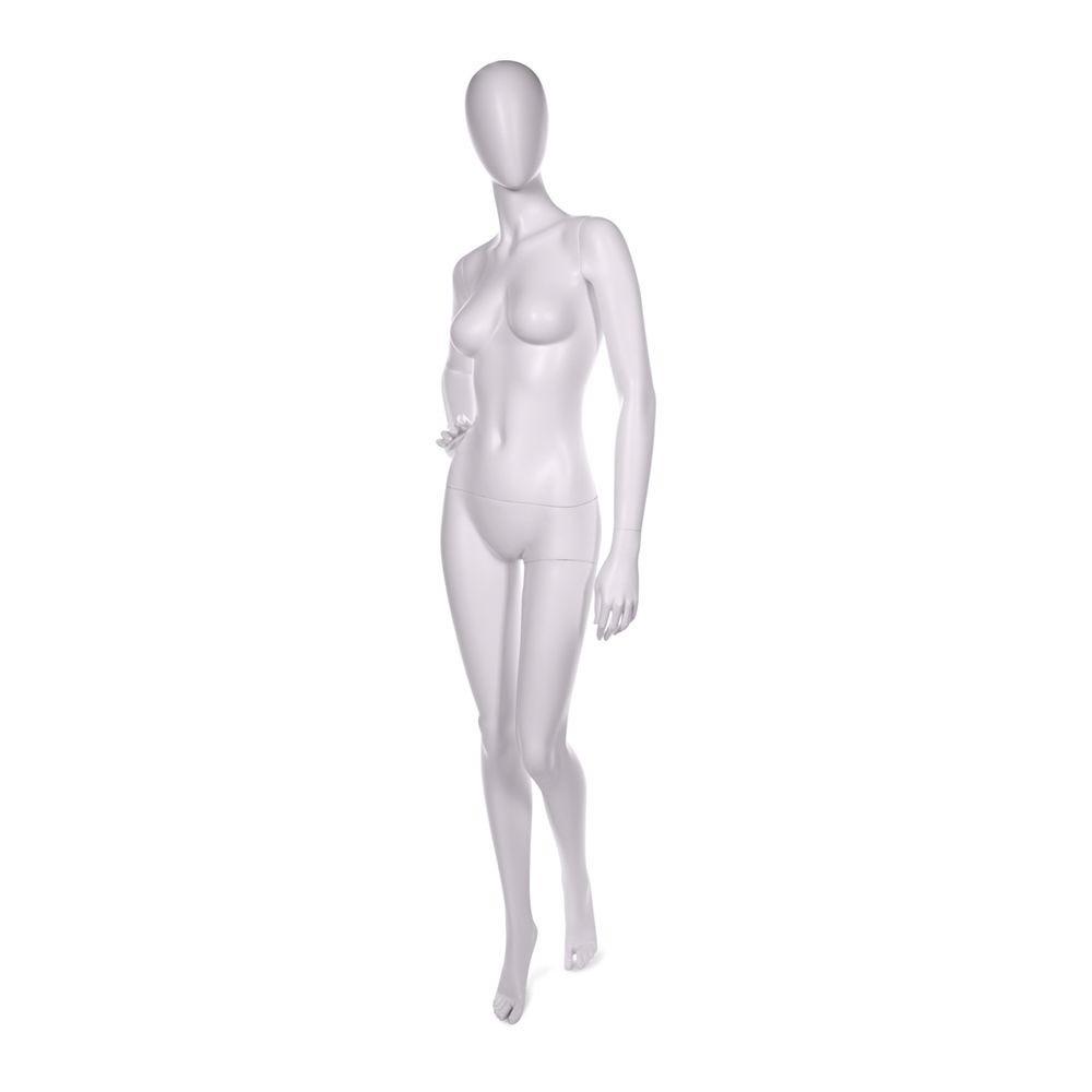 Mannequin femme abstraite qualité abs peinture blanche socle en verre (photo)