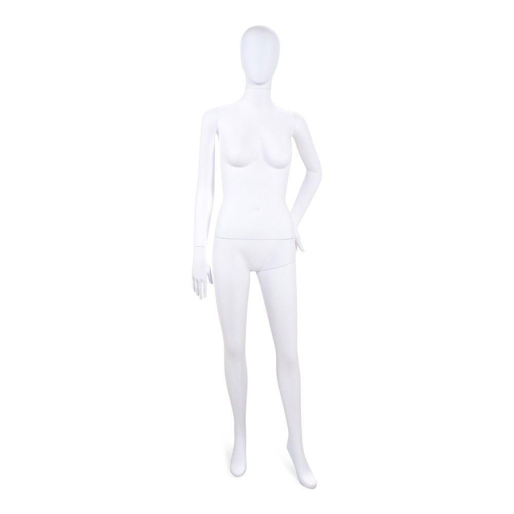 Mannequin femme tête stylisé Cosmo blanc - Modèle 192