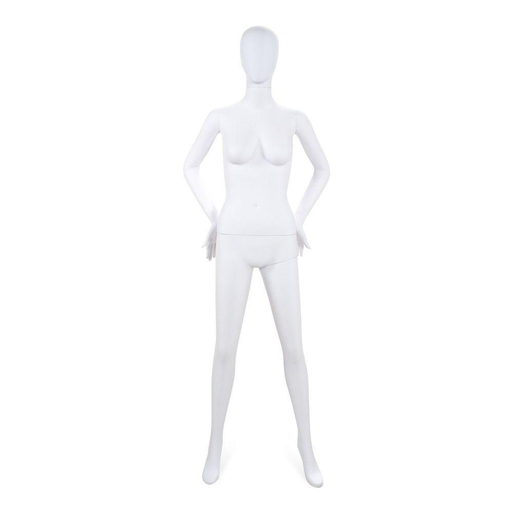 Mannequin femme tête stylisé Cosmo blanc - Modèle 194