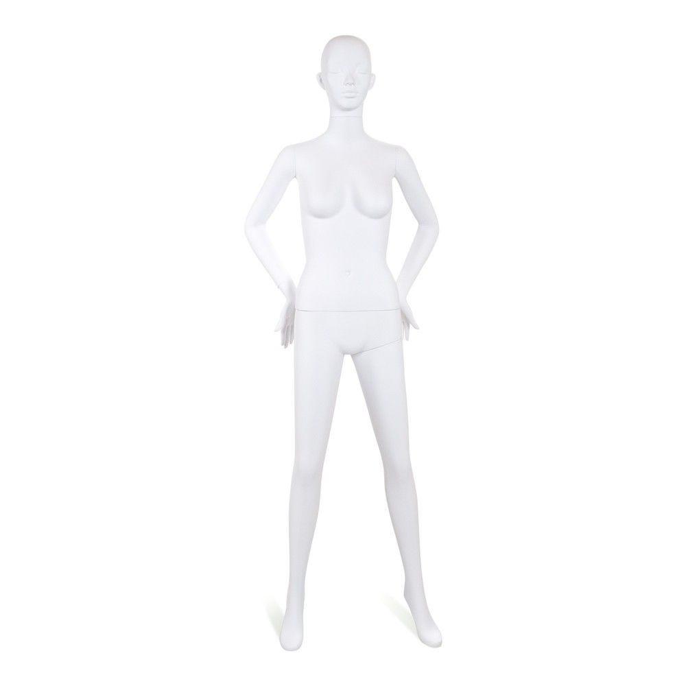 Mannequin femme tête stylisé Cosmo blanc - Modèle 193
