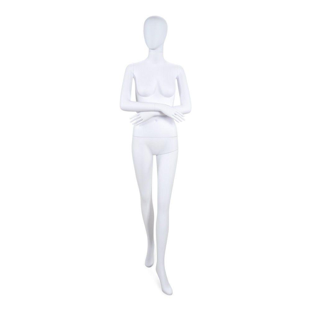 Mannequin femme tête stylisé Cosmo blanc - Modèle 196
