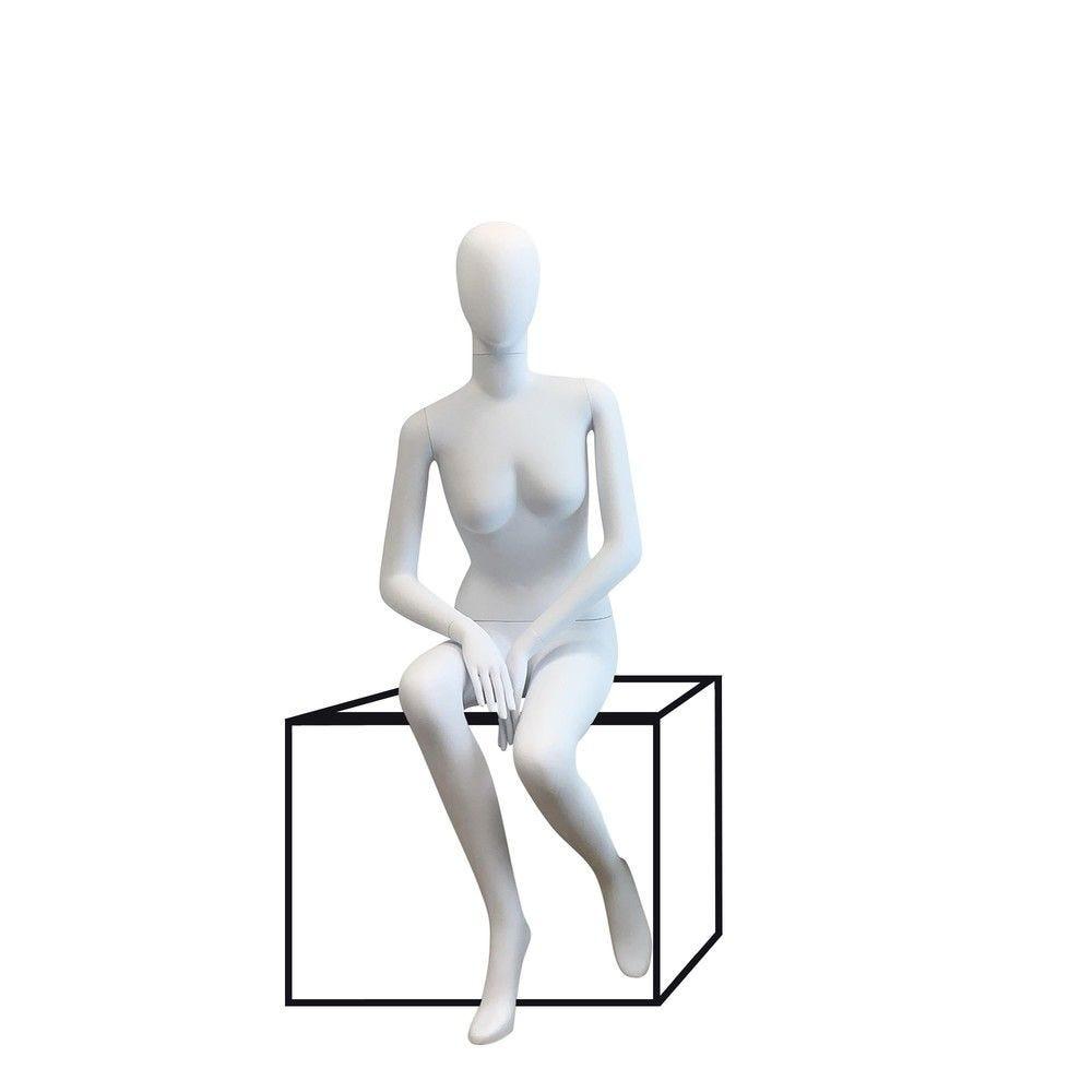 Mannequin femme tête abstraite Cosmo blanc - Modèle 198