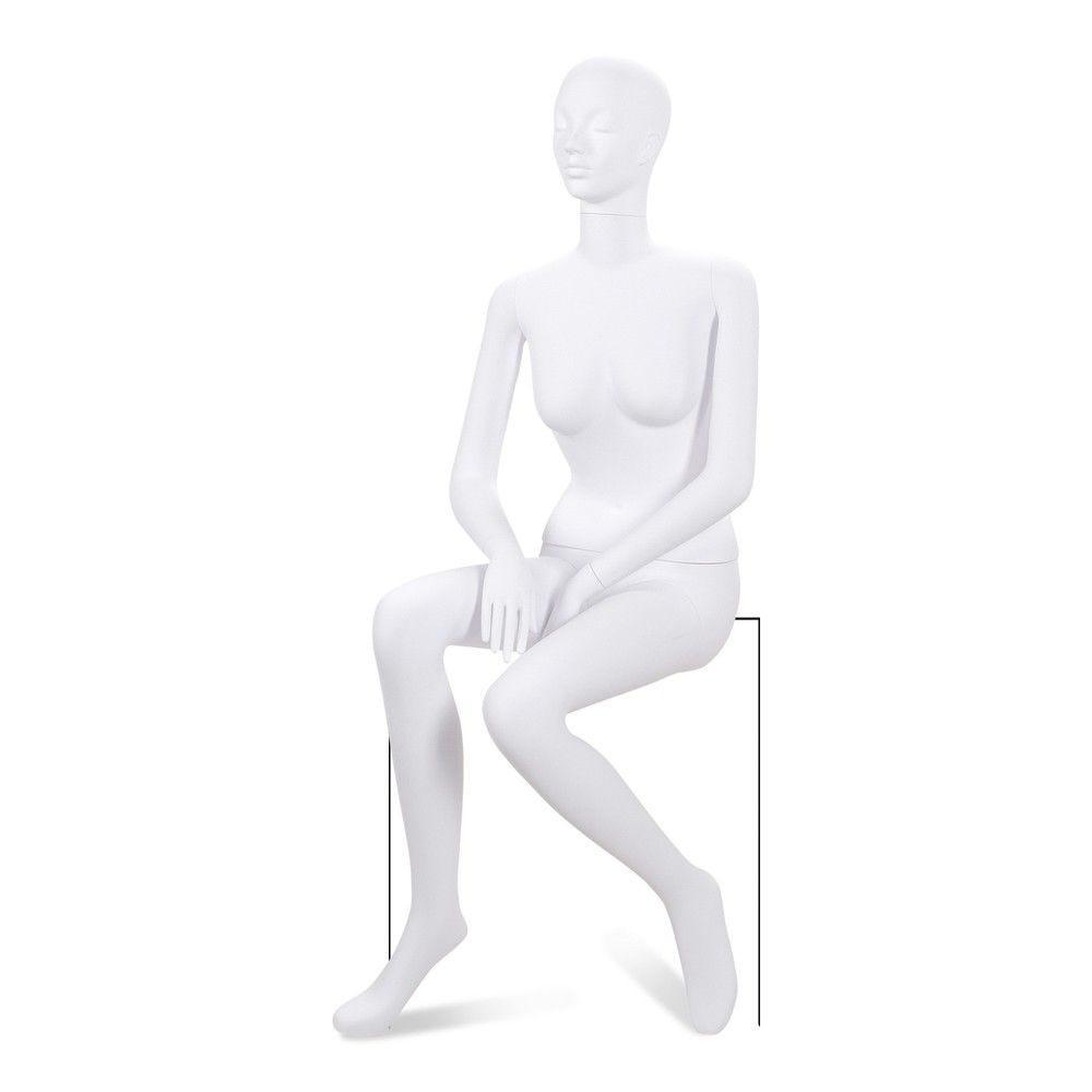 Mannequin femme tête stylisé ABS blanc mat - Modèle 197