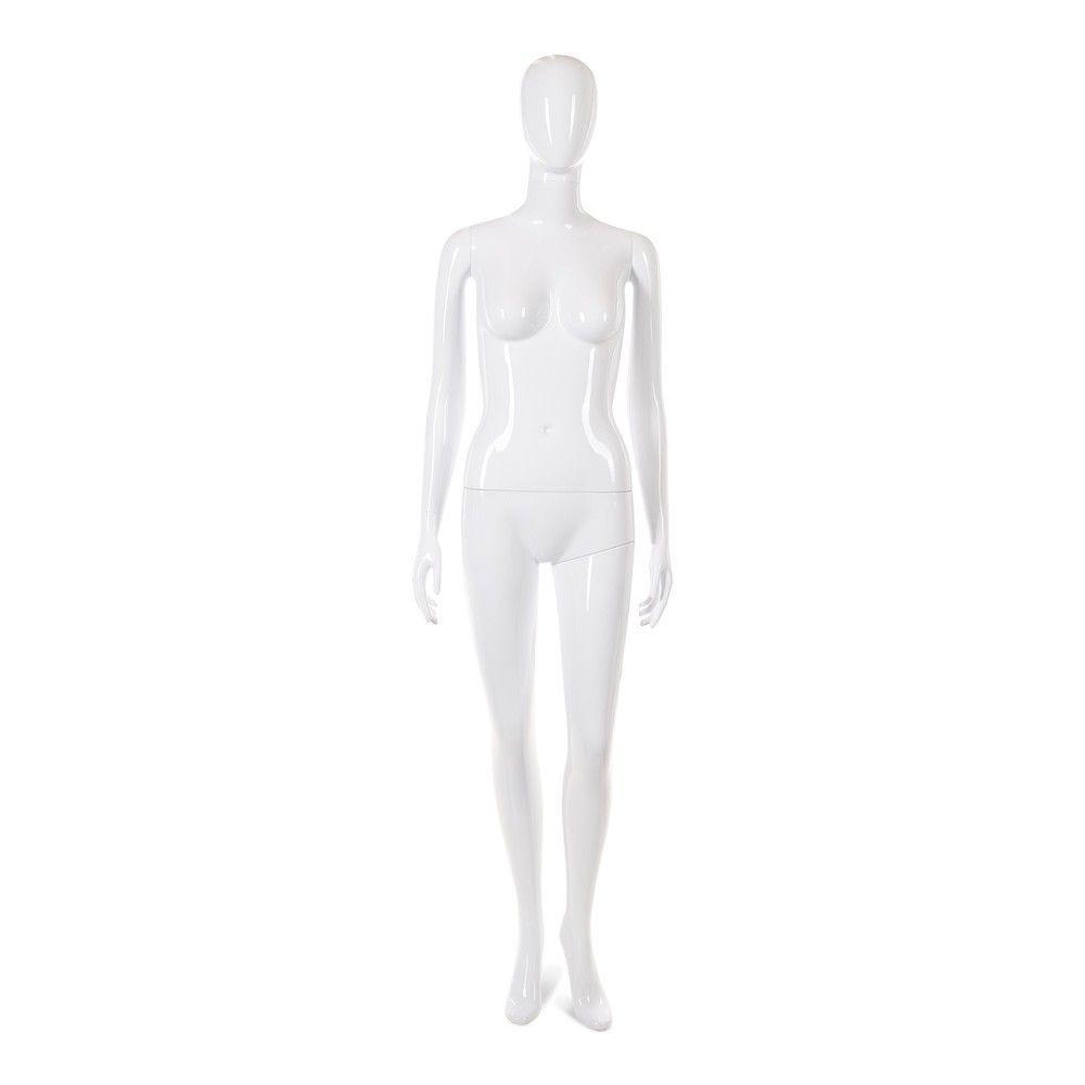 Mannequin femme tête abstraite Cosmo blanc laqué - Modèle 29