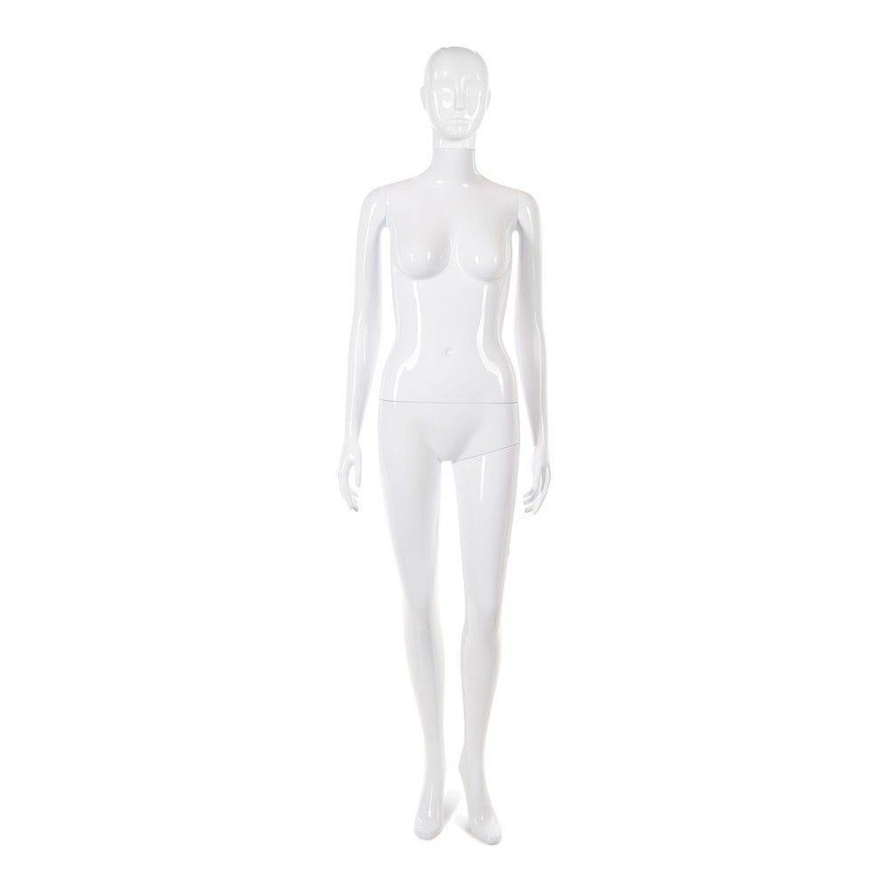 Mannequin femme tête abstraite Cosmo blanc laqué - Modèle 28