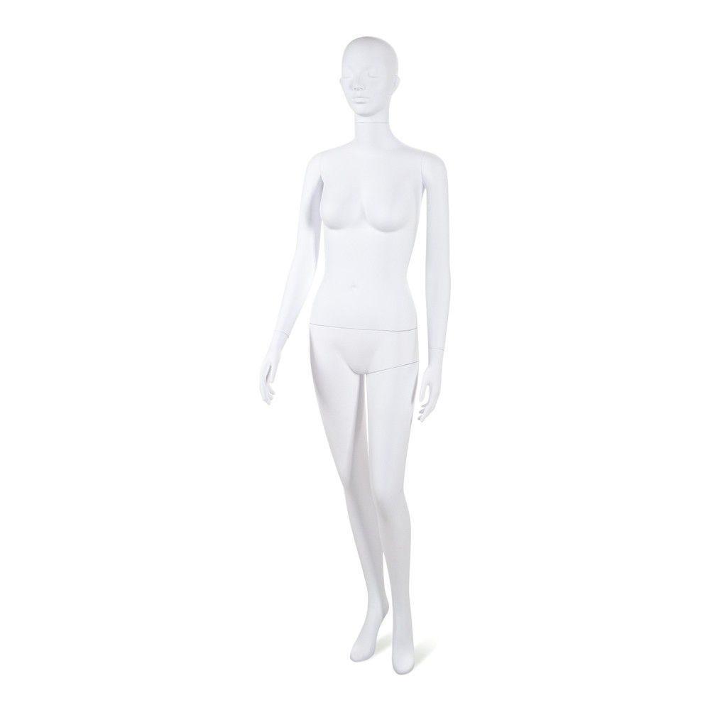 Mannequin femme tête stylisé Cosmo blanc - Modèle 199