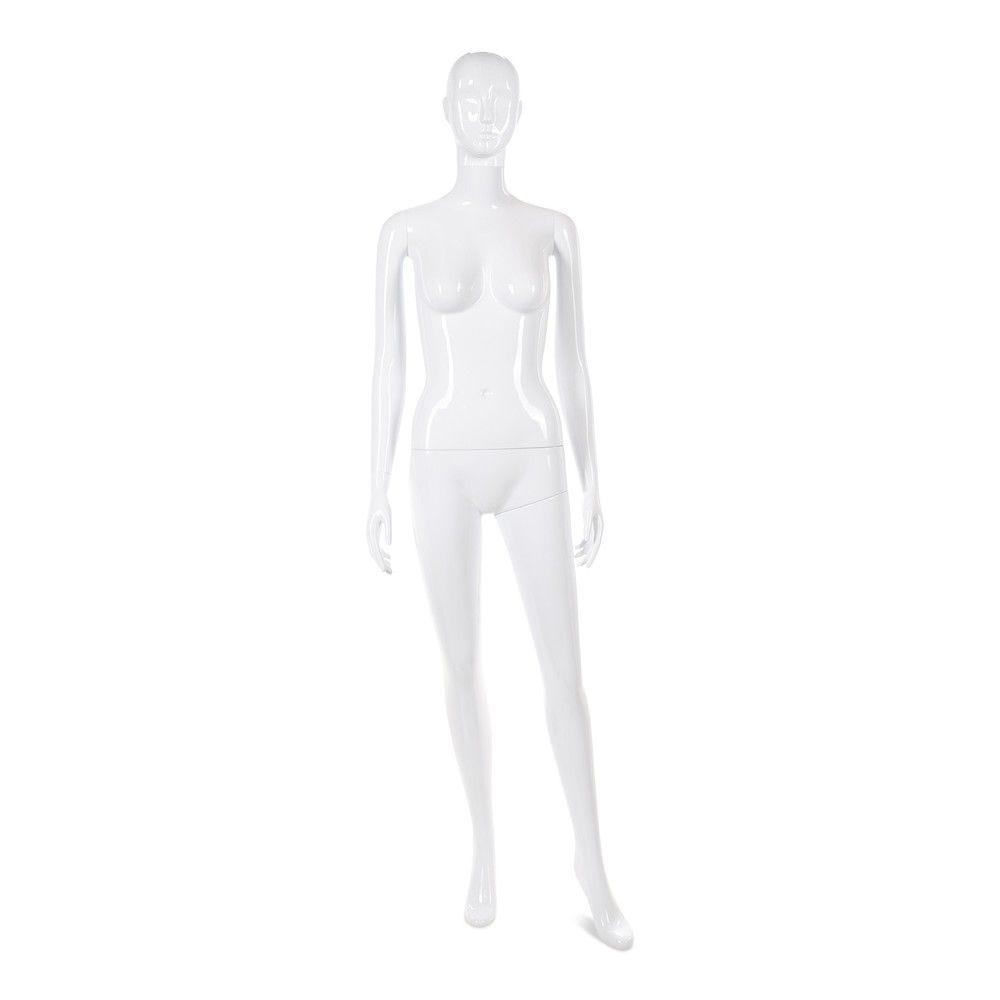 Mannequin femme tête abstraite Cosmo blanc laqué - Modèle 30