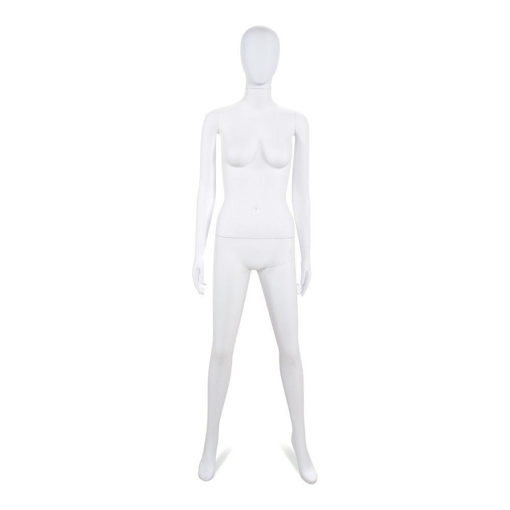Mannequin femme tête abstraite Cosmo blanc mat - Modèle 204