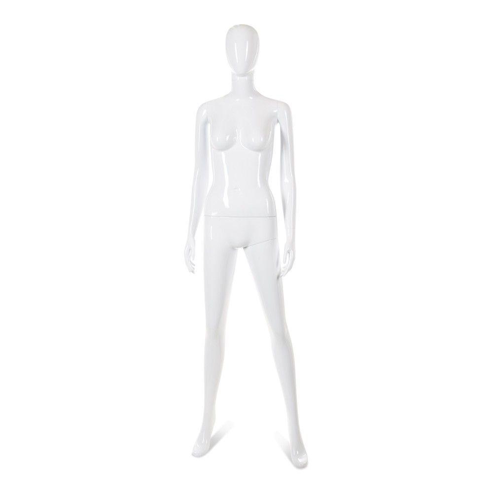 Mannequin femme tête abstraite Cosmo blanc laqué - Modèle 33