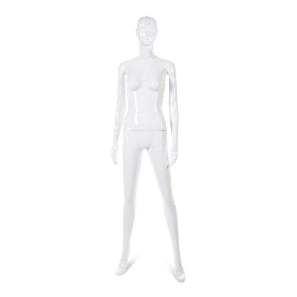 Mannequin femme tête abstraite Cosmo blanc laqué - Modèle 32