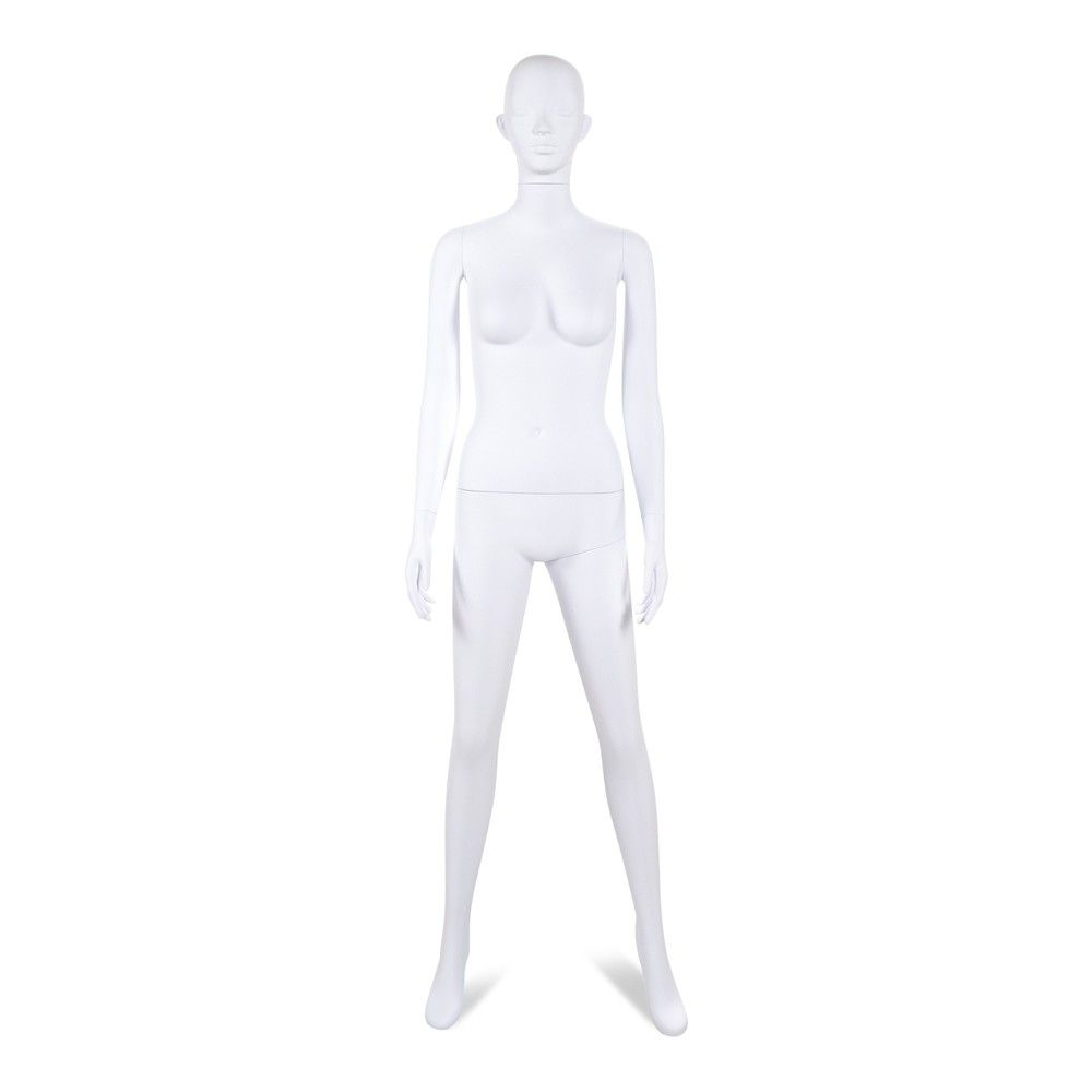 Mannequin femme tête stylisé Cosmo blanc - Modèle 203