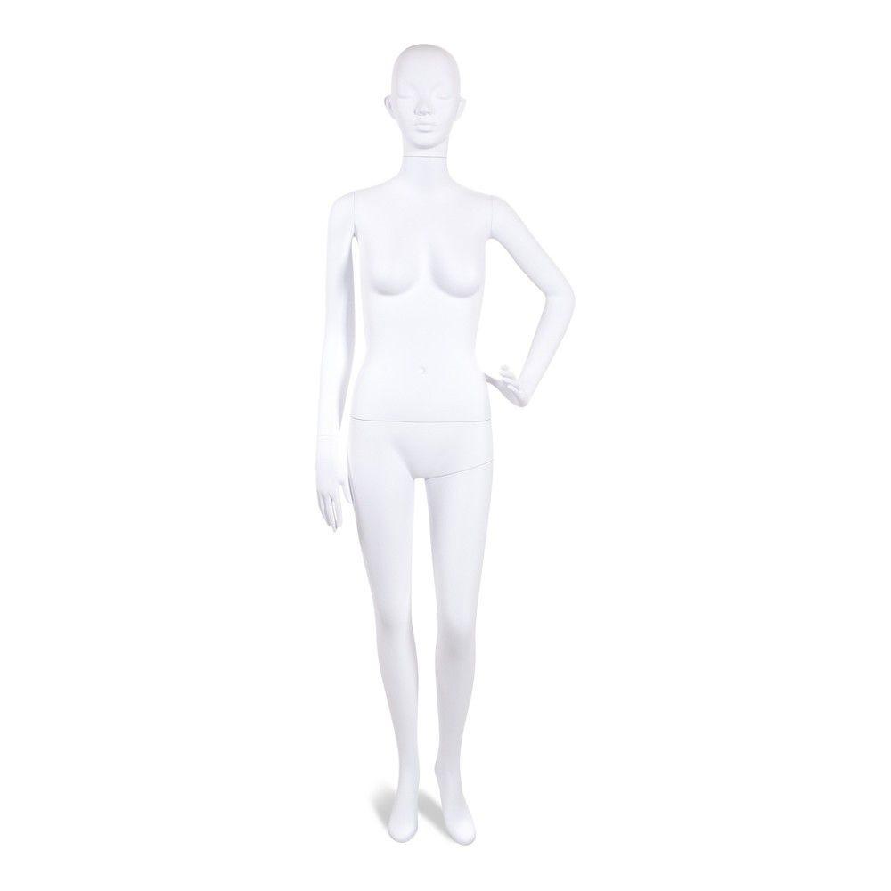 Mannequin femme tête stylisé Cosmo blanc - Modèle 205