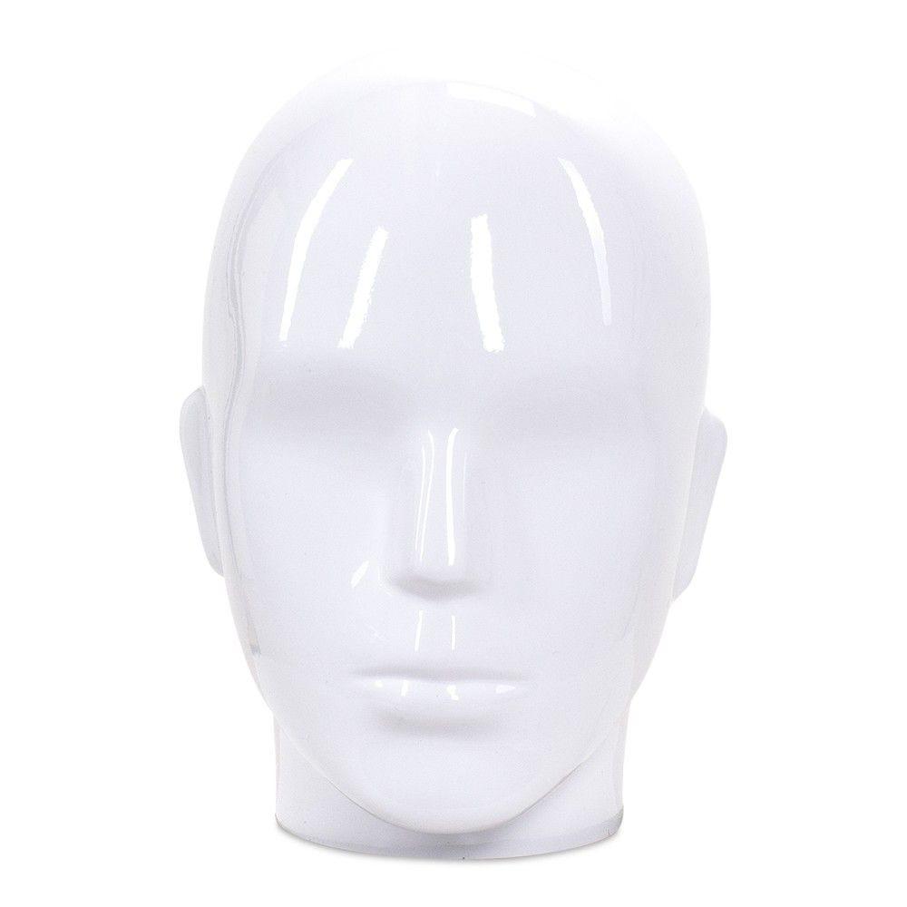 Tête homme collection COSMO ABS blanc laqué - Modèle 37