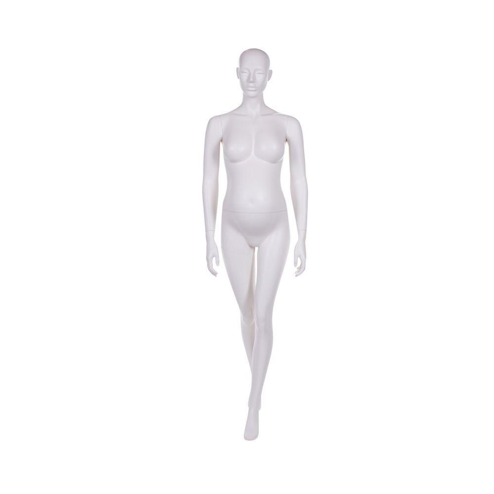 Mannequin femme enceinte qualité frp peinture blanc lait mat avec socle (photo)