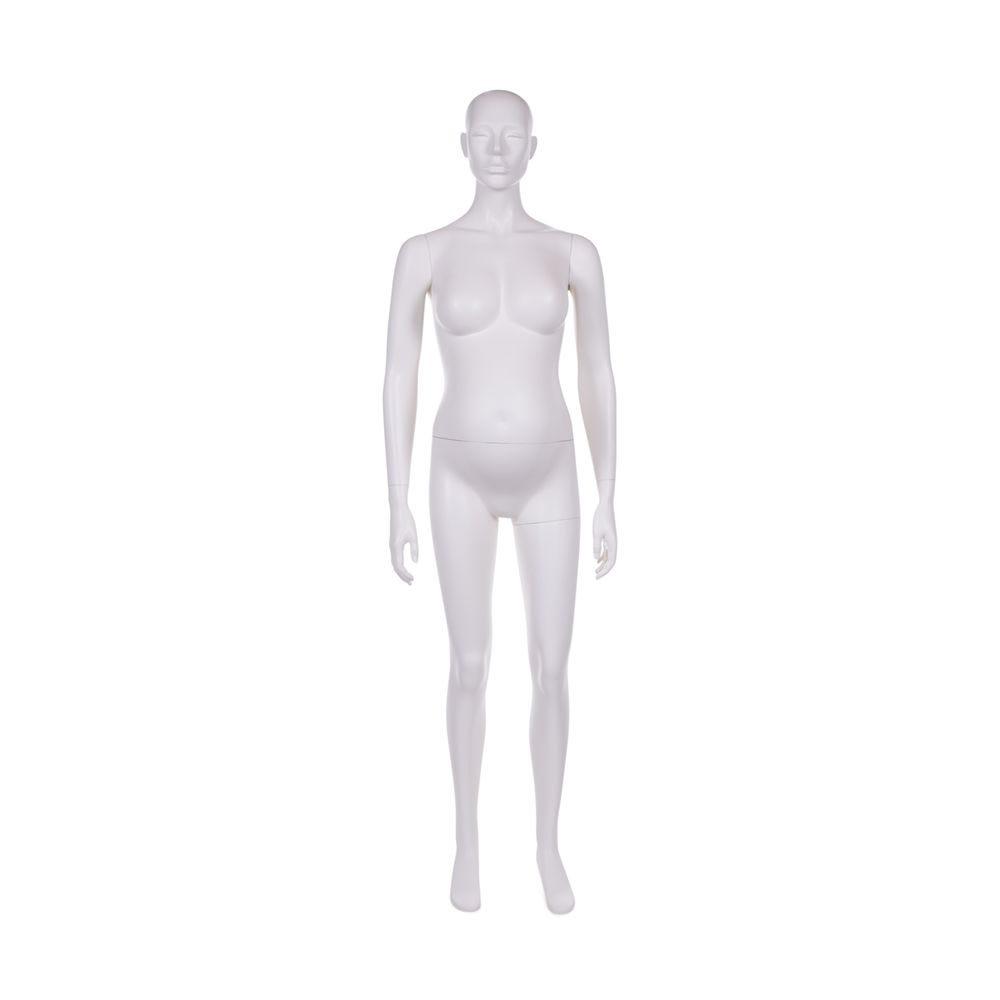 Mannequin femme enceinte qualité frp peinture blanc lait mat + socle (photo)