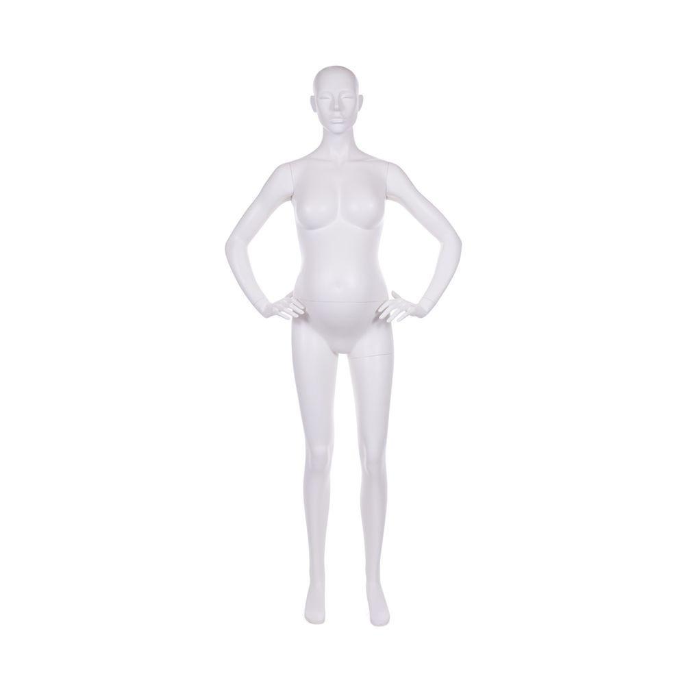Mannequin femme enceinte qualité frp peinture blanc lait mat et socle (photo)