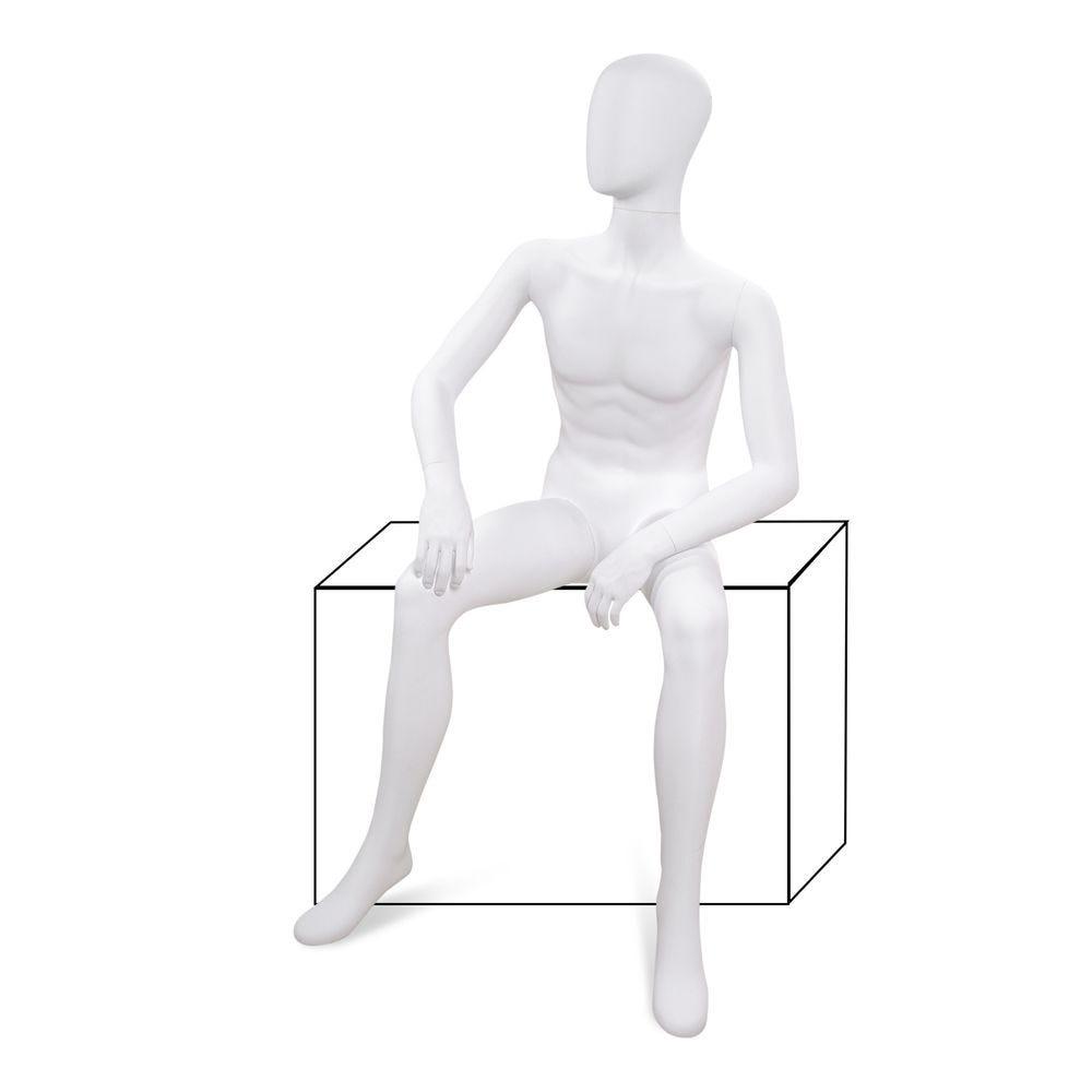 Mannequin homme tête abstraite ABS blanc - Modèle 226