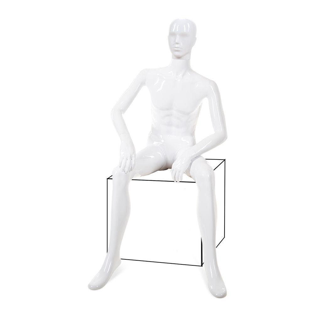 Mannequin homme tête abstraite ABS; blanc - Modèle 48