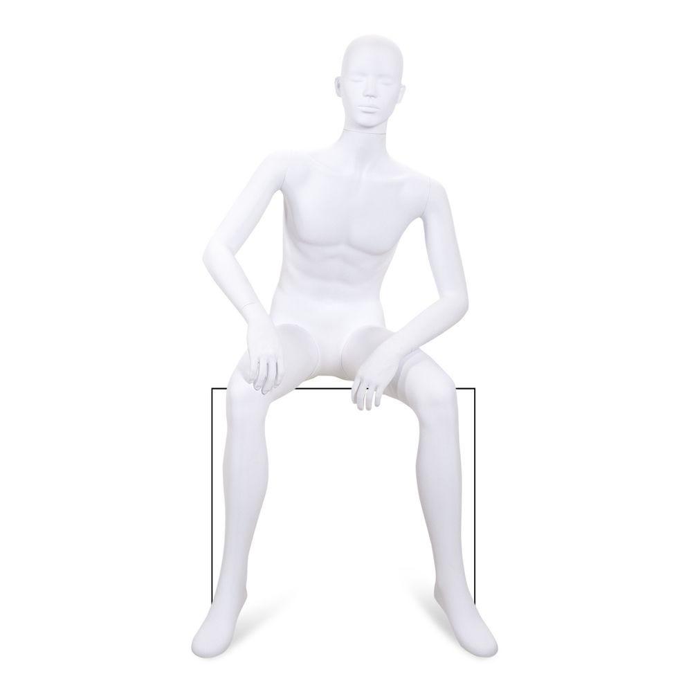 Mannequin homme tête stylisée ABS blanc - Modèle 225
