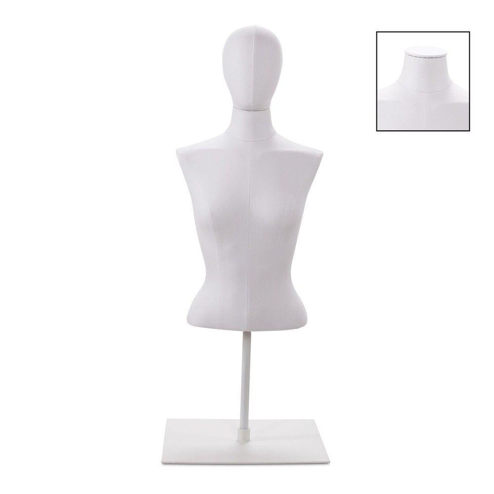 Buste femme court couture tissu blanc socle bla - Modèle 58 (photo)