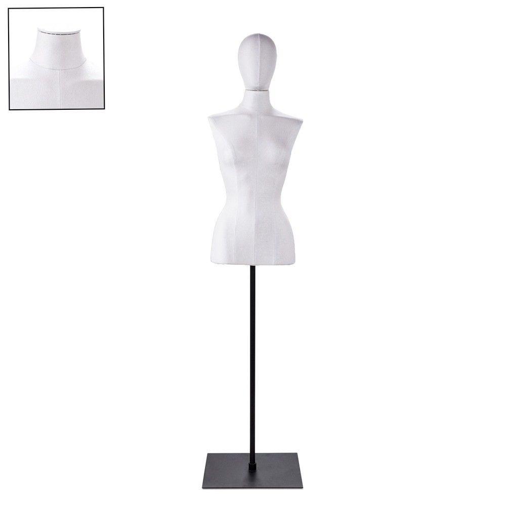 Buste femme blanc couture socle noir - Modèle 66 (photo)
