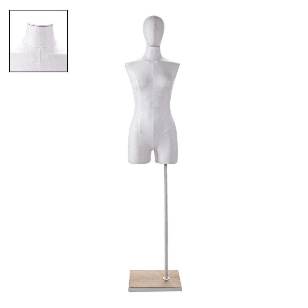 Buste femme couture avec jambes tissu blancsocle - Modèle 70 (photo)