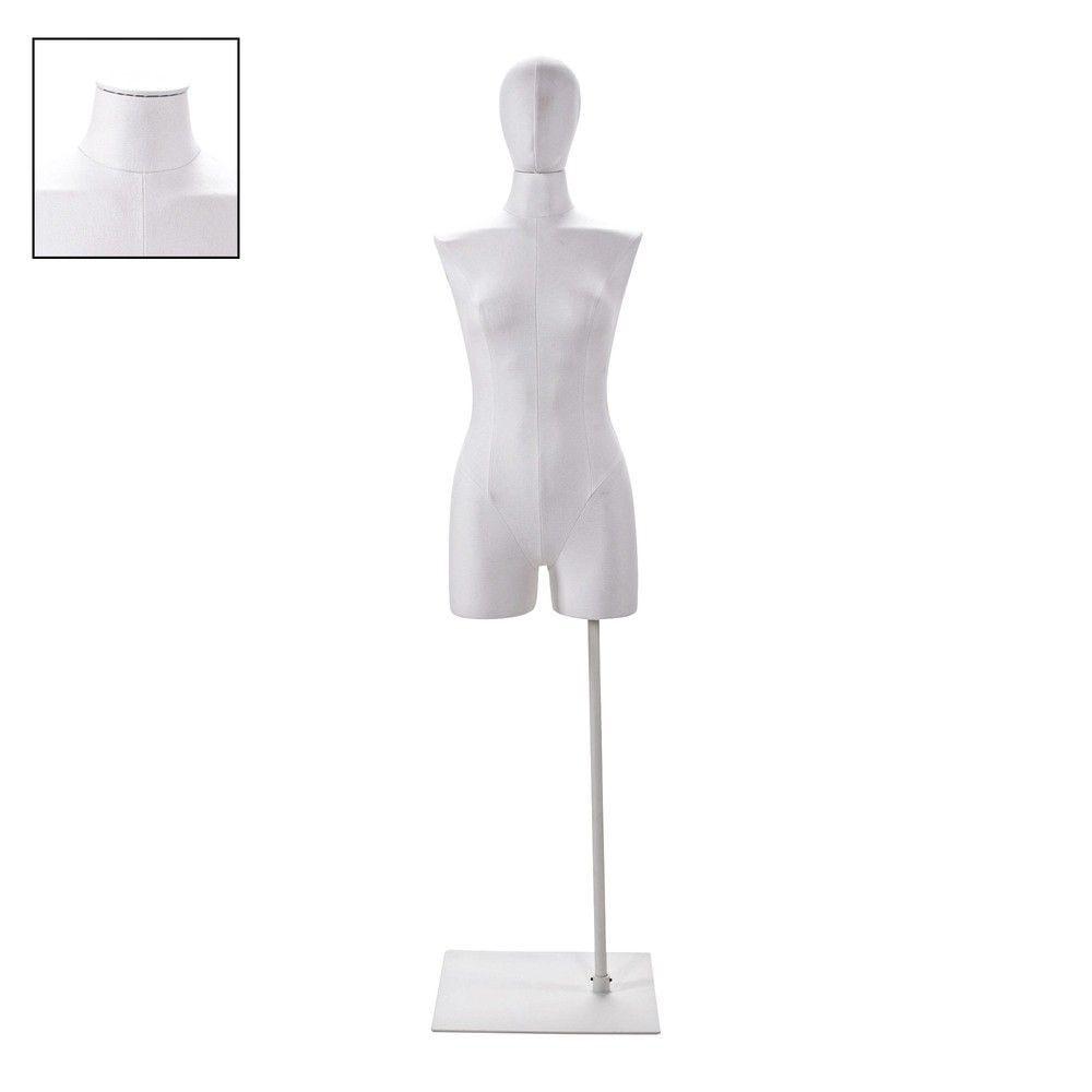 Buste femme couture avec jambes tissu blancsocle - Modèle 74 (photo)