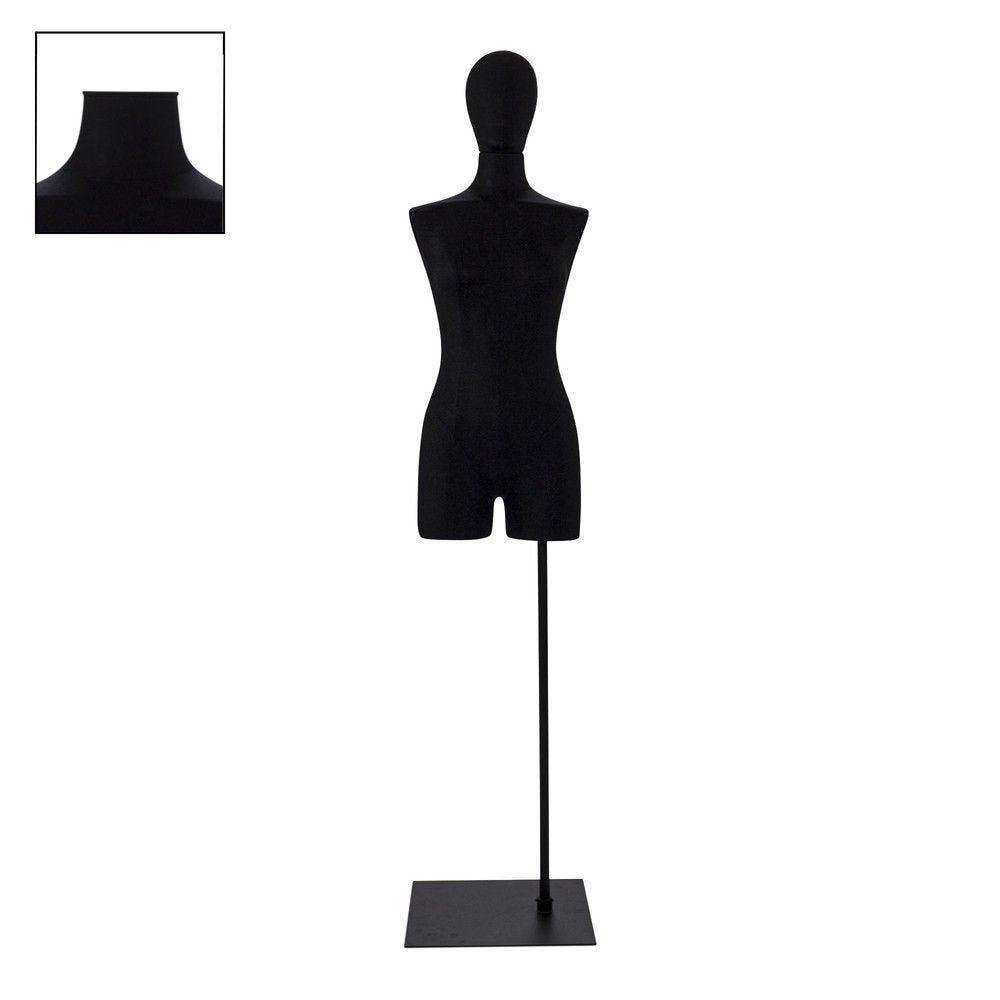 Buste femme avec jambes tissu noir socle - Modèle 81 (photo)