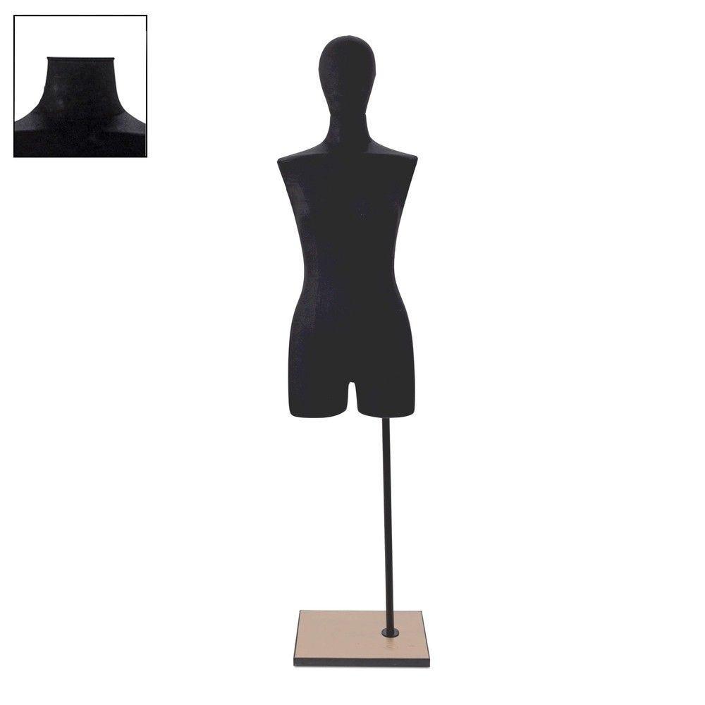 Buste femme avec jambes tissu noir socle - Modèle 84 (photo)