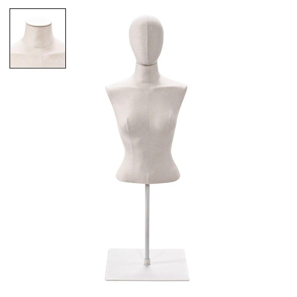 Buste femme court couture tissu écru socle bla - Modèle 93 (photo)