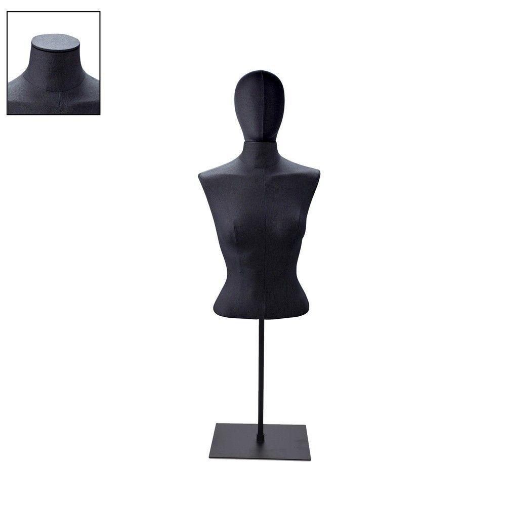 Buste femme court couture tissu noir staander - Modèle 105 (photo)