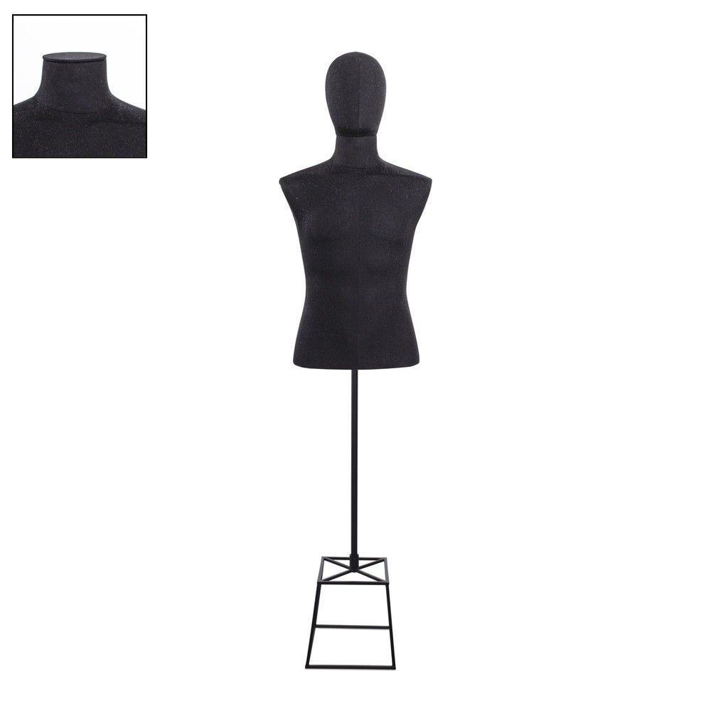 Buste homme court couture tissu+socle noir - Modèle 119