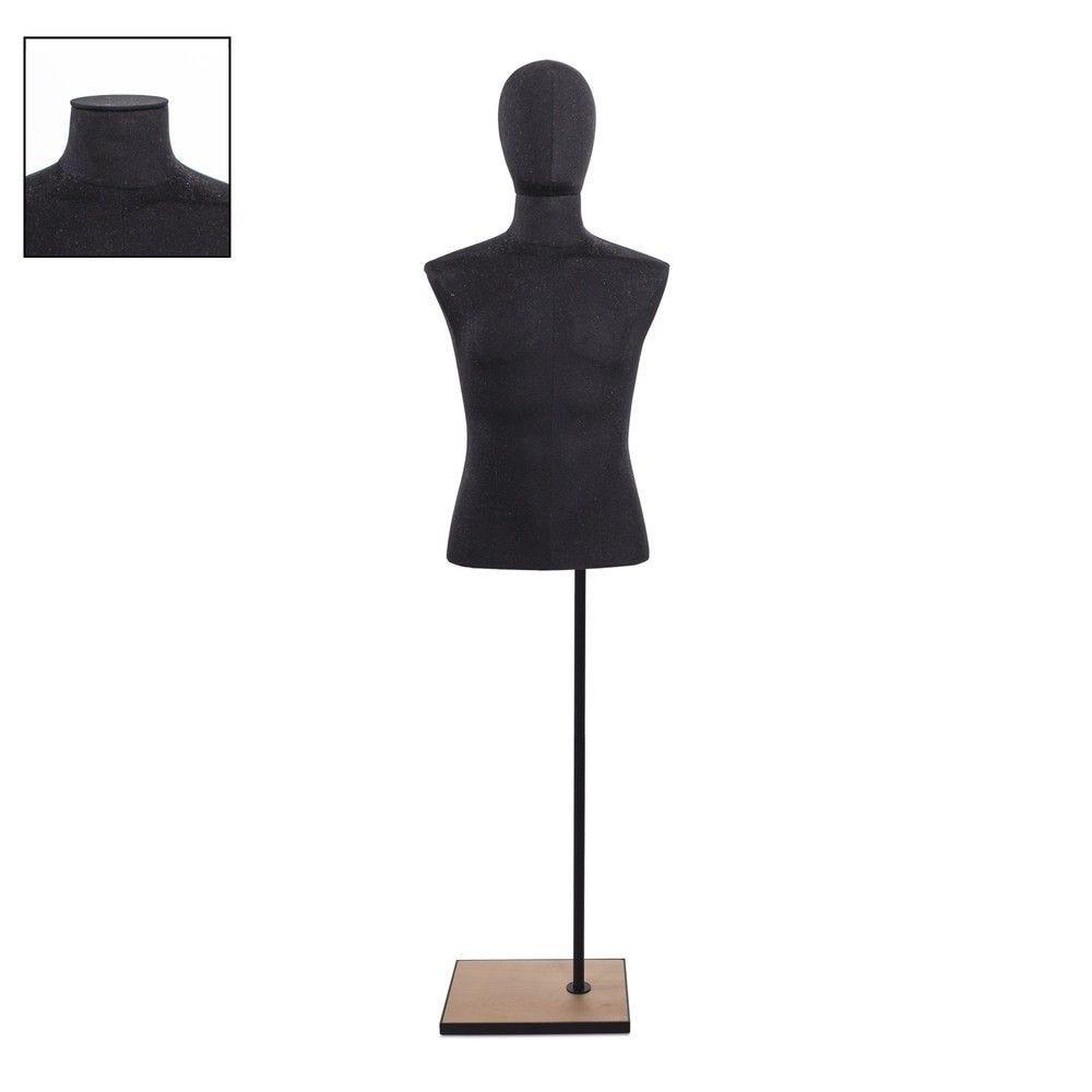 Buste homme court couture tissu+socle noir - Modèle 122