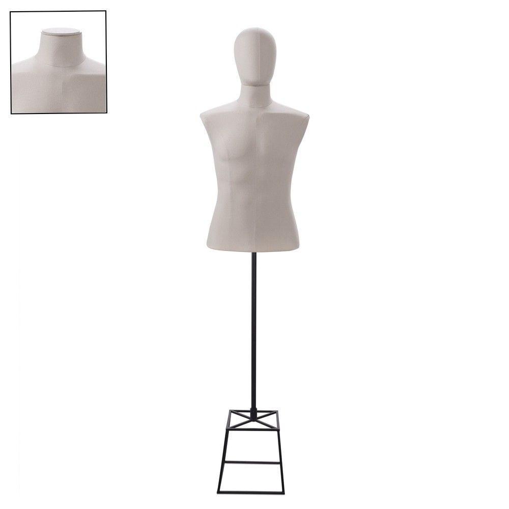 Buste homme court couture tissu+socle noir - Modèle 134