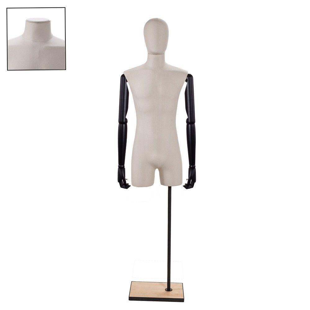 Buste homme couture avec bras tissu ecru - Modèle 153