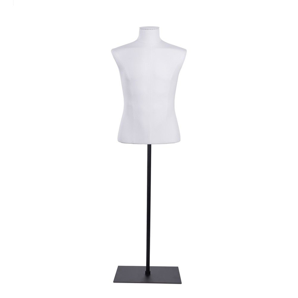 Buste homme court couture tissu+socle noir - Modèle 164