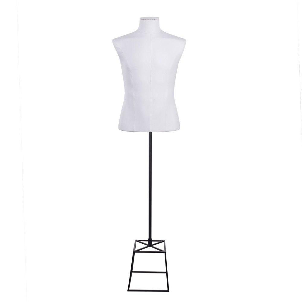 Buste homme court couture tissu socle noir - Modèle 168